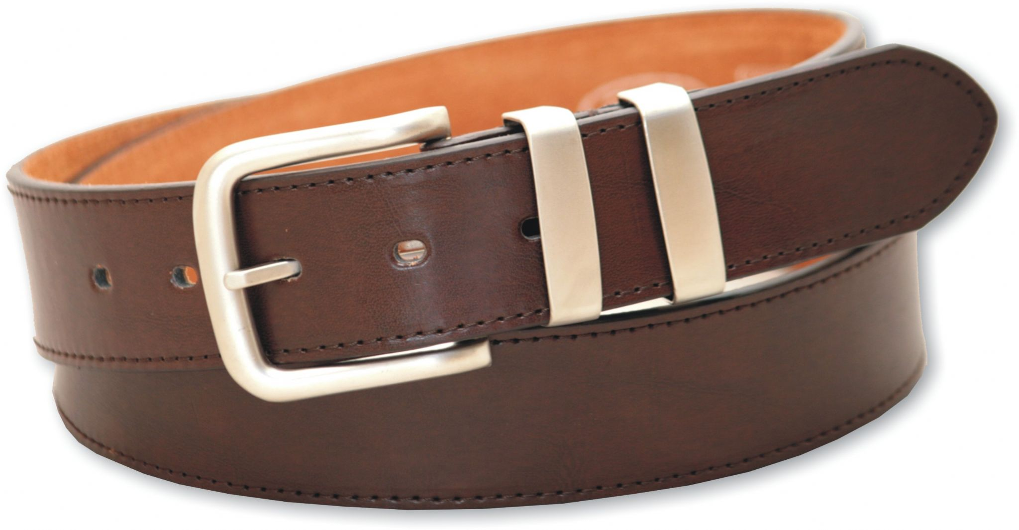 mens 1 5 leather lined belt in brown with loop